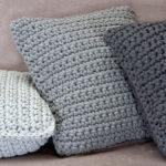 dziergane poduszki